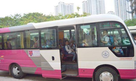 Quy trình đón trả học sinh đi xe buýt của trường Pascal