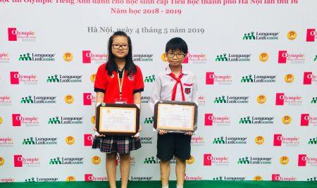 Học sinh trường Pascal giành 1 giải Nhì, 1 giải Ba cuộc thi Olympic tiếng Anh cấp Thành Phố