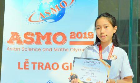 Học sinh Trương Tuệ Minh lớp 7A1 xuất sắc giành giải đồng kỳ thi ASMO 2019