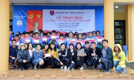 Trường Pascal trao tặng nhiều phần quà cho các trường học bị ảnh hưởng bởi bão lũ tại Quảng Bình