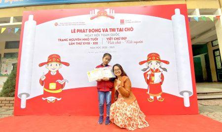 """Passer Lê Hoàng Ngọc Hân lớp 3A3 đoạt giải Thám Hoa Ngày hội """"Trạng nguyên nhỏ tuổi"""" năm học 2020 – 2021"""
